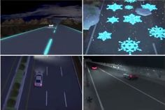 Futuristic highways use glow-in-the-dark road paint to improve road safety. How will this impact asset management planning? Scary Bridges, Highway To Hell, Asset Management, Traffic Light, Save Energy, Futuristic, The Darkest, Transportation, Safety
