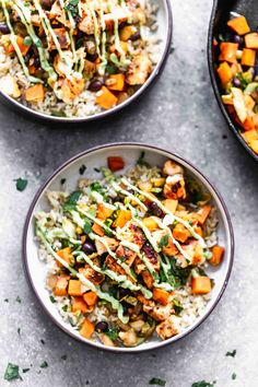 Chicken Rice Bowls, Chicken And Brown Rice, Veggie Rice Bowl, Clean Eating, Healthy Eating, Healthy Food, Healthy Rice, Healthy Cooking, Avocado Cream Sauces