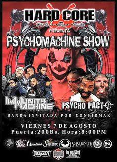 "Hard Core Bar presenta: ""PsychoMachine Show"" http://crestametalica.com/events/hard-core-bar-presenta-psychomachine-show/ vía @crestametalica"