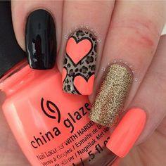 heart nail art, Instagram media by deanne29 #nail #nails #nailart
