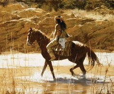 Howard Terpning - The Captain's Horse (http://www.hiddenridgegallery.com/store/howard-terpning/the-captain-s-horse.html)