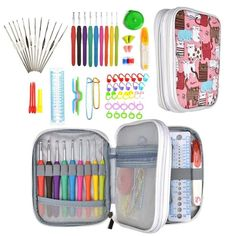ProCase Crochet Hook Case up to 9 Inches Travel Organizer Zipper Bag for V#97