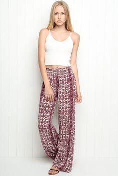 crop top + flowy pants #brandymelville
