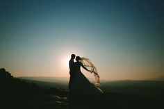 Chapel length veil blowing in the wind