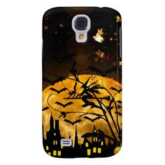 Halloween Full Moon Witch Samsung Galaxy S4 Case SOLD on Zazzle