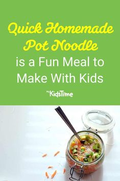 Quick Homemade Pot Noodle is a Fun Meal to Make With Kids Noodle Recipes, Nutritious Meals, Easy Healthy Recipes, Quick Meals, Family Meals, Food To Make, Noodles, Dinners, Good Food