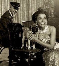 Leena Horne and her pug, Nellie.
