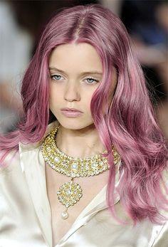 Abbey Lee Kershaw Long & Pink Hair Model » Hairstyles - Celebrity Hair Styles & Haircuts