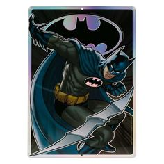 Rescue blank walls from the void with this powerful prismatic print depicting your favorite DC hero in champion style. Tin Signs, Metal Signs, Wall Signs, Tin Walls, Batman, Dc Comics Superheroes, Dc Heroes, Dark Knight, Emboss