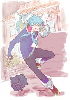 Aoba and Ren guess Aoba late for work?