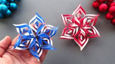 Tutorial: How to make a Star using origami paper ⭐ Easy Paper Snowflake Paper Snowflakes, Origami Paper, Hobbit, Diys, Christmas Crafts, Things To Come, Stella, Star, School