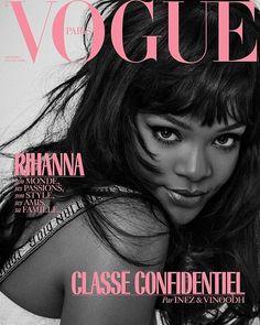 Rihanna by Jean Paul Goude on the cover of Vogue Paris December 2018 Rihanna Vogue, Mode Rihanna, Rihanna News, Rihanna Riri, Rihanna Daily, Vogue Magazine Covers, Fashion Magazine Cover, Fashion Cover, Vogue Covers