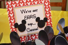 Mickey Mouse Birthday Party - Mickey Mouse Ears Sign