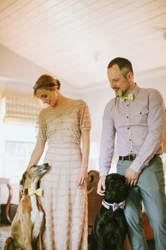 the bride and groom + their pups // photo by Galaxie Andrews // view more: http://ruffledblog.com/sedona-elopement-by-galaxie-andrews