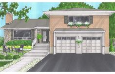 Curb Appeal: On a budget, a home can still be redesigned. The owners asked for a seating area, repaved driveway and extending the steps. Could benefit by updating the garage doors for appearance and energy efficiency since living space is above the garage.