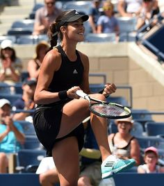Happy days for Ana Ivanovic who beat Alison Riske to reach the second round at the US Open #WTA #Ivanovic #USOpen