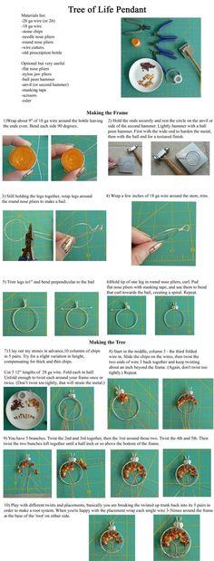 Simple Wire Wrap Tree Tutorial by sammsfamily