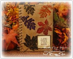 Learn How to Make this beautiful handmade thankful journal that is perfect for yourself or a handmade gift. at http://www.addalittledazzle.com/add-little-dazzle-stampendous-blog-hop-day-5/