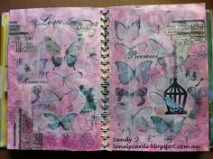 Art journal, love butterflies and this was such fun to do..