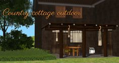 3t2 Country Cottage Outdoor : deco awning • deco column • dining chair • dining table • 3 lanterns • terrarium • 14 wood and fabric recolor combinations • collection file and icon • preview and swatches • Credit: wolfspryte Download: COPY or...