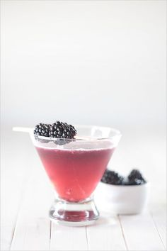 st. germain + blackberry cocktail.