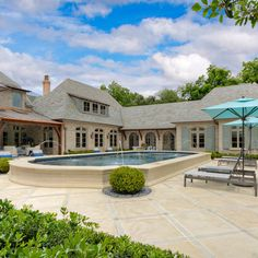 French Casual - traditional - Pool - Dallas - Harold Leidner Landscape Architects