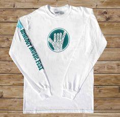 2011 Hangout Fest Long - Sleeve Shirt - White - $20.00