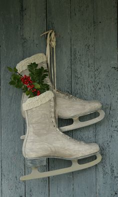 Have done this with child's black skates, but I love the white skates which I have as well...like the lace!
