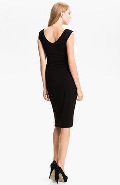 B44 Dressed by Bailey 44 Ruched Cap Sleeve Sheath Dress