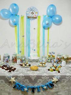Mesa de dulces para celebrar la llegada de mi bebe♥
