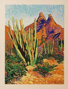 Robert Daughters - Sonora original serigraph by Robert Daughters Palm Desert, Desert Art, Landscape Prints, Landscape Art, Landscape Paintings, Landscapes, Palm Springs, Western Landscape, Southwestern Art