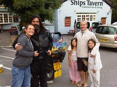 Here is Captain Rug Wash and his family with John Bryden from his charity Kirstys Kids.    Was a great afternoon meeting up with him on his epic bike journey around the UK