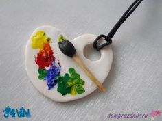 Color palette necklace made from Fimo/ Polymer Clay