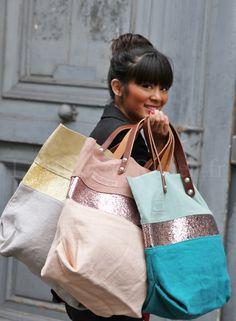 sacs estellon rouen by alissa Diy Sac, Boho Bags, Jute Bags, Linen Bag, Fabric Bags, Cotton Bag, Cloth Bags, Handmade Bags, My Bags
