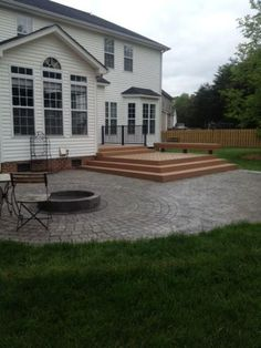 Northwest High Point NC Outdoor Living Combinations By Archadeck Of The  Piedmont Triad. The Combination Of A Deck And Hardscape Patio With Firepit  Create ...