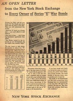 "New York Stock Exchange's Victory Bonds – An Open Letter from the New York Stock Exchange to Every Owner of Series ""E"" War Bonds (1945)"