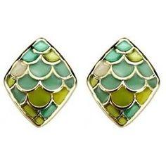 Mermaid Green Earrings  $10