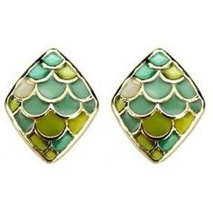 Mermaid Green Earrin