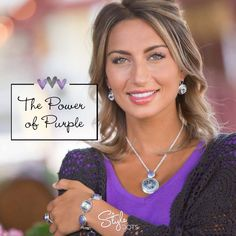 Classic Combination Necklace with the Purple Muros Dot from Style Dots! Style with me at https://suzanne.styledotshome.com