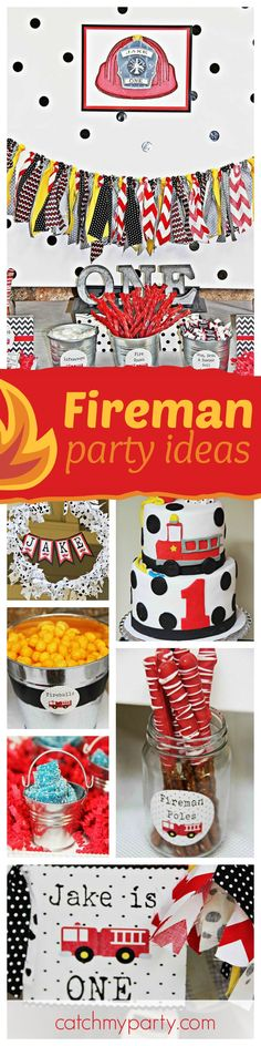 This party is on fire!!! You do not want to miss it! Check out the fantastic treats and birthday cake! See more party ideas and share yours at CatchMyParty.com