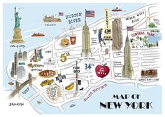 new york map 21 New York #1   Programme pour un long week end au coeur de la grosse pomme