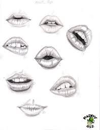 Image result for how to draw lips step by step with pencil