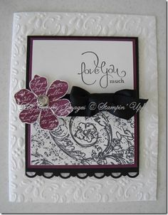 Vintage vogue flower from Stampin up