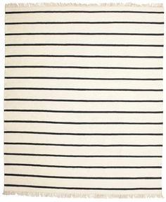 Dorri Stripe - White / Musta 250x300 - CarpetVista