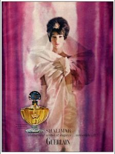 Shalimar by Guerlain Vintage Perfume Ad of the 1960s