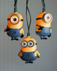 String Lights, Despicable Me Minions Kevin & Jerry, Outdoor, 11 ft. Minions What, Despicable Minions, Cute Minions, My Minion, Minion Stuff, Minion Room Decor, Minion Bedroom, Bedroom Themes, Kids Bedroom