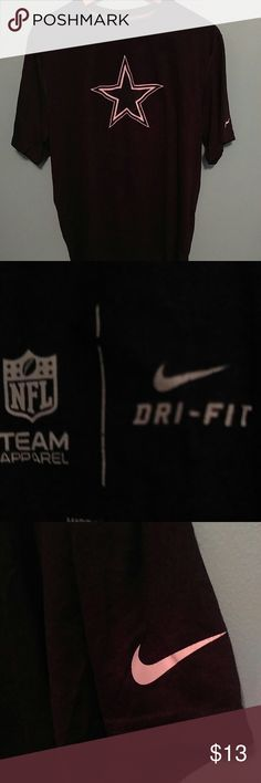 "Nike Dallas Cowboys Dri-Fit t shirt L Official NFL product made by Nike. This stylish and functional navy blue Dri-Fit t shirt is great for NFL Sunday or trips to the gym. Item in near perfect condition. Length 27.5"", Width 21"" Nike Shirts Tees - Short Sleeve"