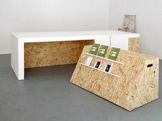 Studio Polpo fait appel au Solid Surface HI-MACS® pour son mobilier emboîtable exposé à l'espace Bloc Projects