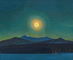 "thunderstruck9: ""Rockwell Kent (American, 1882-1971), Moonlight, Winter, c.1940. Oil on linen, 71.1 × 86.7 cm. Whitney Museum of American Art, New York. """