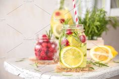 Cold Fruit Infused Detox Water. Wedding Card Templates